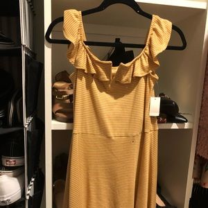 NWT Yellow and white striped Aeropostale dress